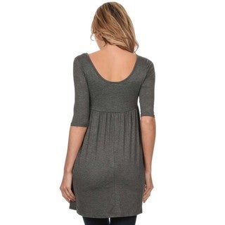 MOA Collection Solid Babydoll Dress