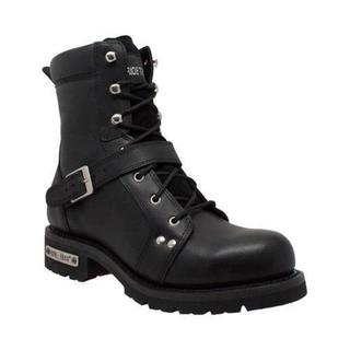 Men's Ride Tecs 9146 8in Zipper Lace Boot Black Leather