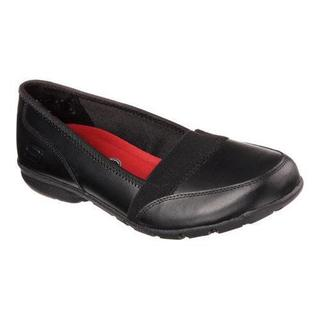 Women's Skechers Work Relaxed Fit Buras Slip Resistant Shoe Black