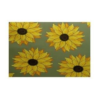 Sunflower Power Flower Print Rug (3' x 5')