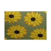 Sunflower Power Flower Print Rug (3' x 5')
