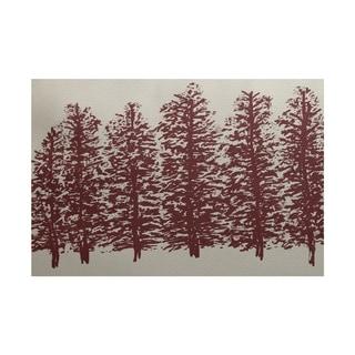 Through The Woods Flower Print Rug (4 x 6')