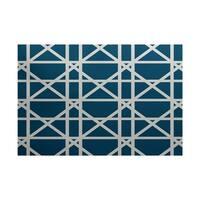 Trellis Geometric Print Rug (3' x 5')