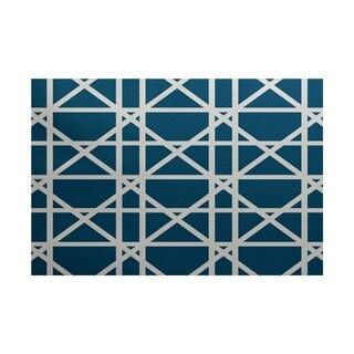 Trellis Geometric Print Rug (4 x 6')
