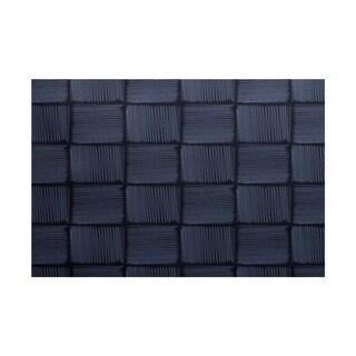 Basketweave Geometric Print Rug (4 x 6')