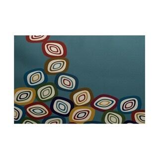 Falling Leaves Geometric Print Rug (4 x 6')