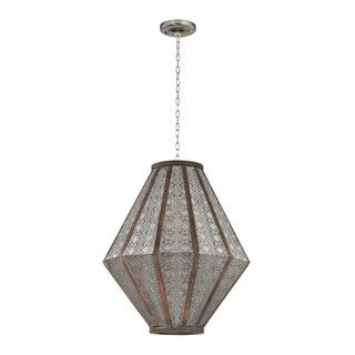 Large Pierced Metalwork Hanging Pendant Light