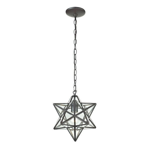 Sterling Star 1-light Glass Pendant Lamp