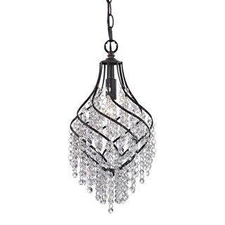 Sterling Crystal Drop Pendant
