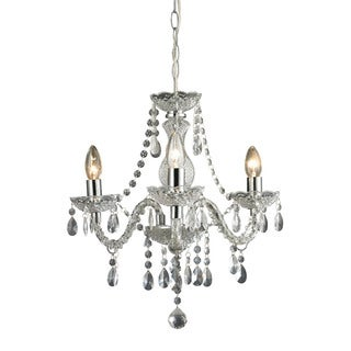 Sterling Theatre 3-light Clear Mini Chandelier
