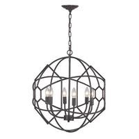 Sterling Strathroy 6-light Orb Chandelier With Honeycomb Metal Work