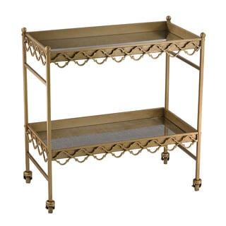 Sterling Rectangular Quatrefoil Bar Cart