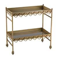 Sterling Rectangular Quatrefoil Bar Cart
