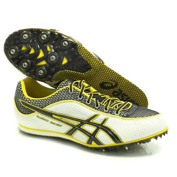 ASICS G003N 0190 Mens Turbo Ghost 3 Track Spikes White Black Yellow