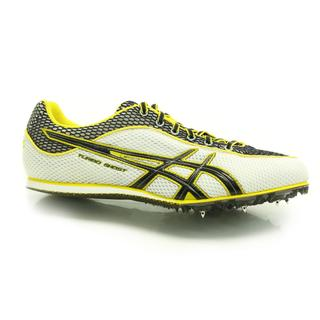 ASICS G003N 0190 Mens Turbo Ghost 3 Track Spikes White/ Black/ Yellow