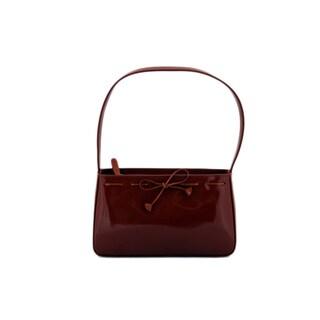 24/7 Comfort Apparel Faux Leather Shoulder Bag (Short)