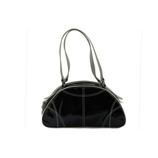 24/7 Comfort Apparel Faux Leather Half Moon Bag
