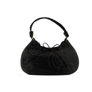 24/7 Comfort Apparel Boho Woven Design Shoulder bag