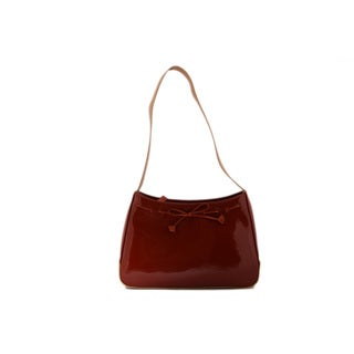 24/7 Comfort Apparel Knitted Design Faux Leather Bag