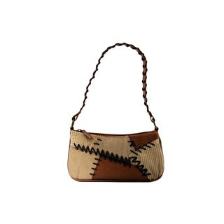24/7 Comfort Apparel Suede and Faux Leather Boho Bag