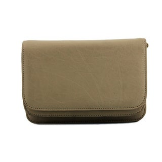 24/7 Comfort Apparel Two-Pocket Faux Leather Clutch
