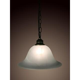 Bathsheba 1-light White Glass 12-inch Edison Pendant with Bulb