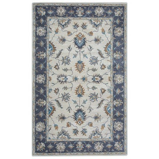 Arden Loft Crown Way Natural/ Charcoal Grey Oriental Hand-tufted Wool Area Rug (5' x 8')