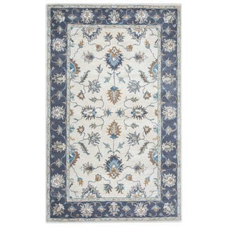 Arden Loft Crown Way Natural/ Charcoal Grey Oriental Hand-tufted Wool Area Rug (8' x 10')