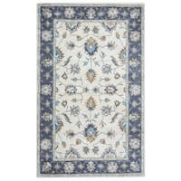 Arden Loft Crown Way Natural/ Charcoal Grey Oriental Hand-tufted Wool Area Rug - 8' x 10'