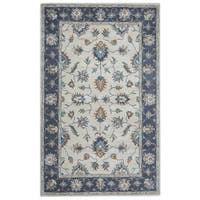 Arden Loft Crown Way Natural/ Charcoal Grey Oriental Hand-tufted Wool Area Rug (10' x 14') - 10' x 14'