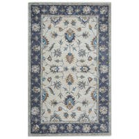 Arden Loft Crown Way Natural/ Charcoal Grey Oriental Hand-tufted Wool Area Rug (2'6' x 8') - 2'6 x 8'