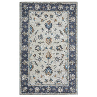 Arden Loft Crown Way Natural/ Charcoal Grey Oriental Hand-tufted Wool Area Rug (2'6' x 10')