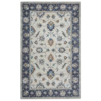"Arden Loft Crown Way Natural/ Charcoal Grey Oriental Hand-tufted Wool Area Rug (2'6' x 10') - 2'6"" x 10'"