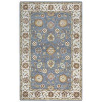 Arden Loft Crown Way Grey/ Natural Oriental Hand-tufted Wool Area Rug - 5' x 8'