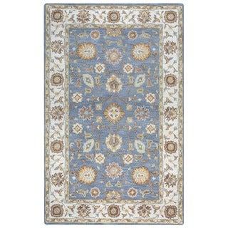 Arden Loft Crown Way Grey/ Natural Oriental Hand-tufted Wool Area Rug (8' x 10')