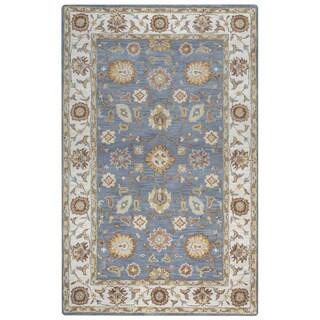 Arden Loft Crown Way Grey/ Natural Oriental Hand-tufted Wool Area Rug (2'6' x 8')