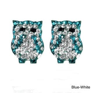 Handmade Jovial Bright Owl Cubic Zirconia .925 Silver Stud Earrings (Thailand)|https://ak1.ostkcdn.com/images/products/10542110/P17622600.jpg?impolicy=medium