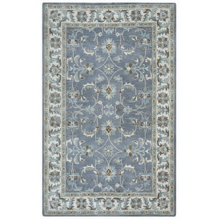 Arden Loft Crown Way Oriental Blue-grey Hand-tufted Wool Area Rug (10' x 14')