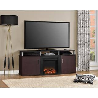 Ameriwood Home Carson Electric Fireplace 70-inch Cherry TV Console|https://ak1.ostkcdn.com/images/products/10542114/P17622585.jpg?impolicy=medium