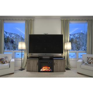 Ameriwood Home Sonoma Oak Carson 70-inch Fireplace TV Console