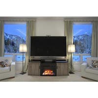 Avenue Greene Ameriwood Home Carson Sonoma Oak Finish MDF/Wood 70-inch Fireplace TV Console