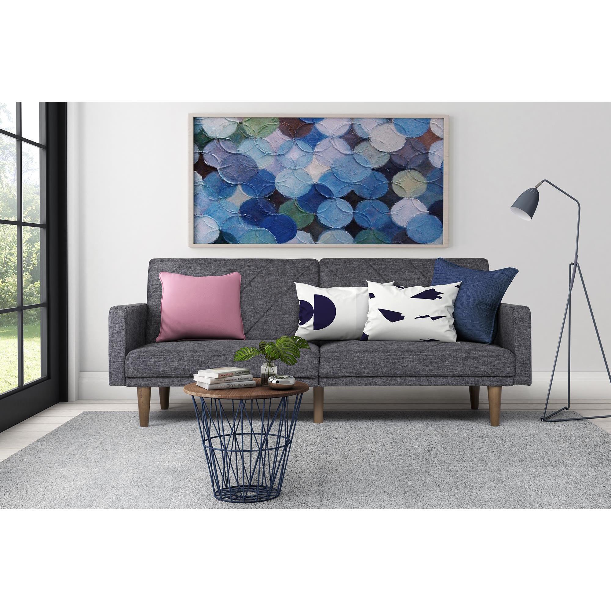Shop Dhp Paxson Grey Linen Futon Free Shipping On Orders
