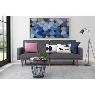 futon for living room. DHP Grey Paxson Linen Futon Full Size Futons For Less  Overstock com