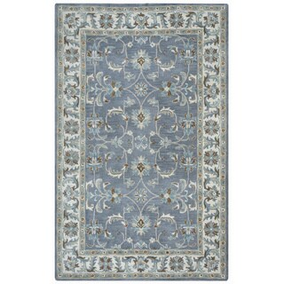 Arden Loft Crown Way Oriental Blue-grey Hand-tufted Wool Area Rug (2'6' x 8')