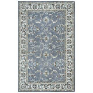 Arden Loft Crown Way Oriental Blue-grey Hand-tufted Wool Area Rug (5' x 8')