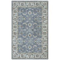 Arden Loft Crown Way Oriental Blue-grey Hand-tufted Wool Area Rug - 5' x 8'