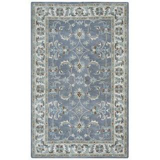 Arden Loft Crown Way Oriental Blue-grey Hand-tufted Wool Area Rug - 5' x 8'