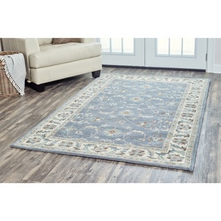 Arden Loft Crown Way Blue/ Ivory Oriental Hand-tufted Wool Area Rug (8' x 10')