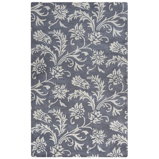 Arden Loft Crown Way Grey/ Ivory Floral Hand-tufted Wool Area Rug (5' x 8')