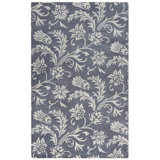 Arden Loft Crown Way Grey/ Ivory Floral Hand-tufted Wool Area Rug (9' x 12')